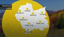 Prognoza pogody dla woj. małopolskiego - 11.12