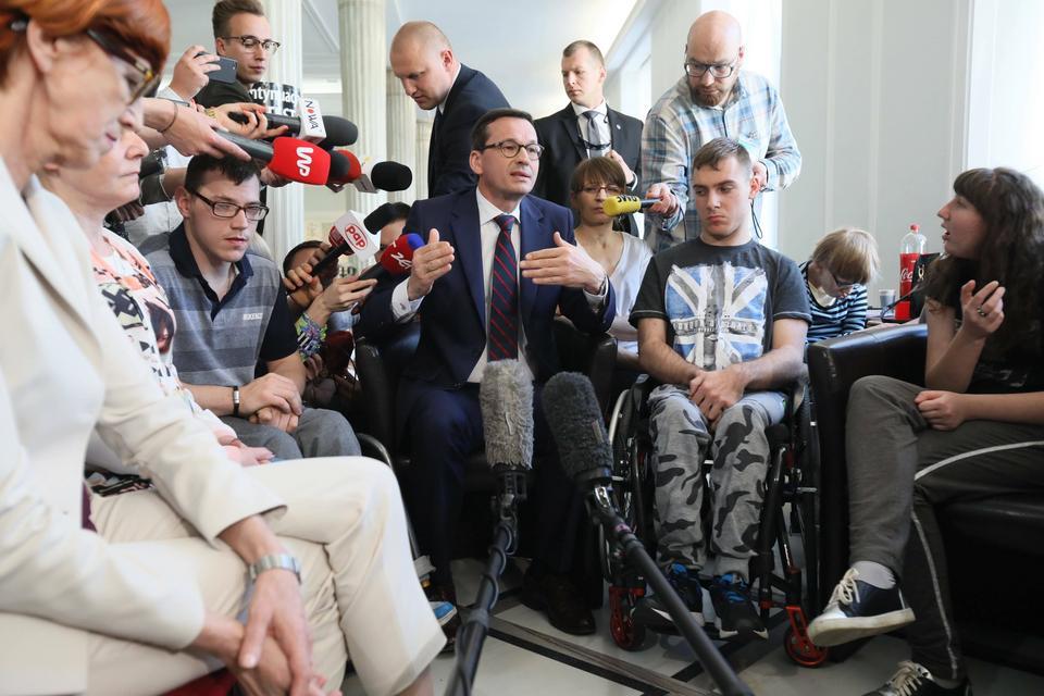 Protest niepełnosprawnych. Spotkanie w Sejmie