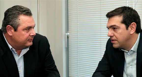 Panos Kamenos i Aleksis Cipras