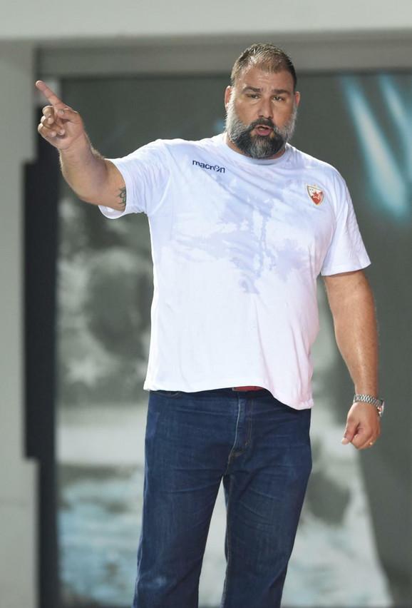 Dejan Savić u periodu dok je bio trener vaterpolista Crvene zvezde
