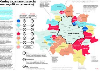 Gminy za, a nawet przeciw metropolii warszawskiej