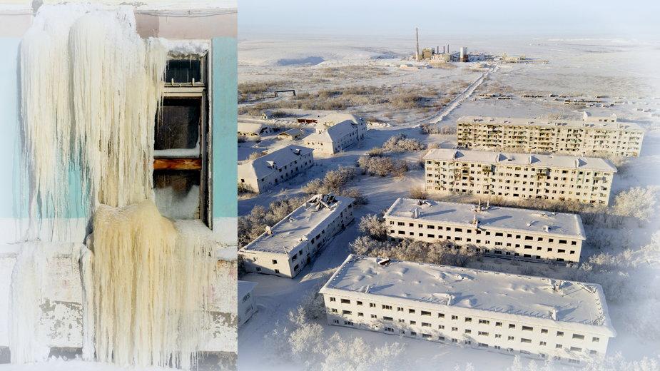 Opuszczona osada Cementozawodzkij koło Workuty, Rosja