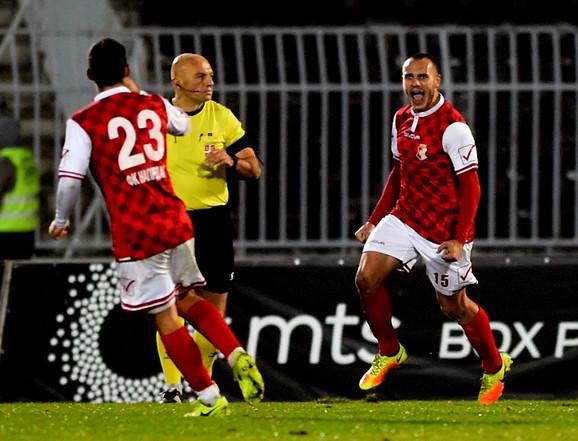 Fudbaleri Napretka slave pobedonosni gol