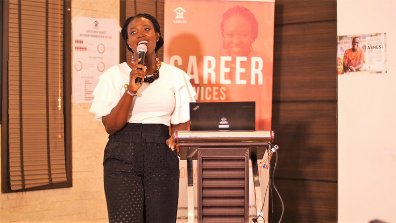 Sylvia Kunkyebe, Assistant Director of career services at Ashesi University.