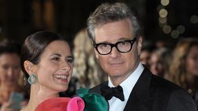 Colin Firth z żoną na czerwonym dywanie. Zaliczyła modową wpadkę?