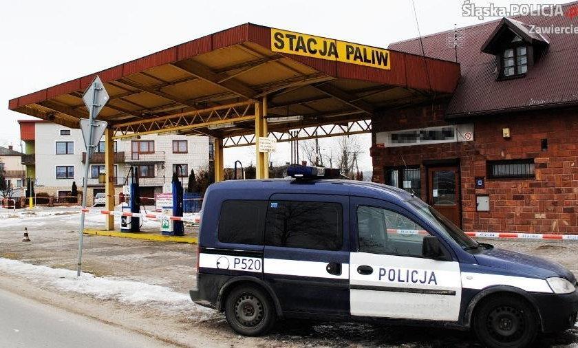 Napad z bronią na stację paliw