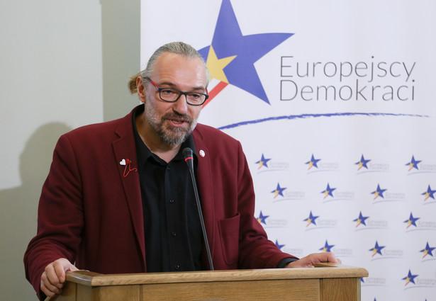 Lider KOD Mateusz Kijowski, PAP/Paweł Supernak
