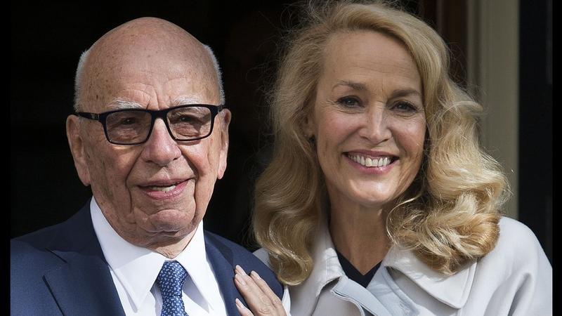 Jerry Hall i Rupert Murdoch już po ślubie