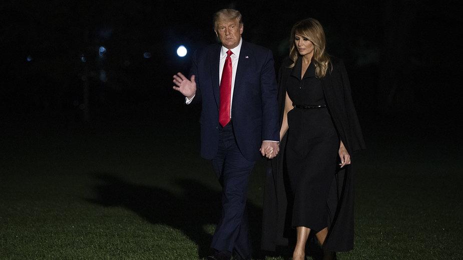 Melania i Donald Trump w październiku br.