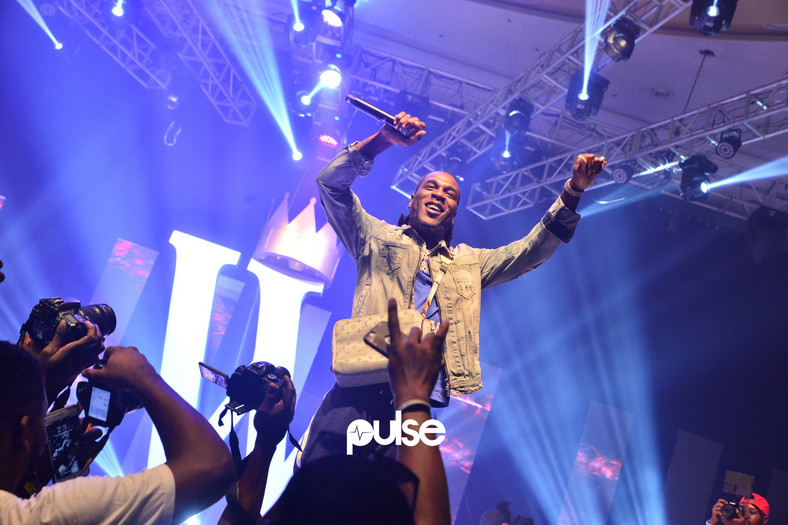 Burna Boy performing at King Coal Live in concert