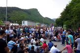 Protest malinara Prijepolje, blokada magistrale
