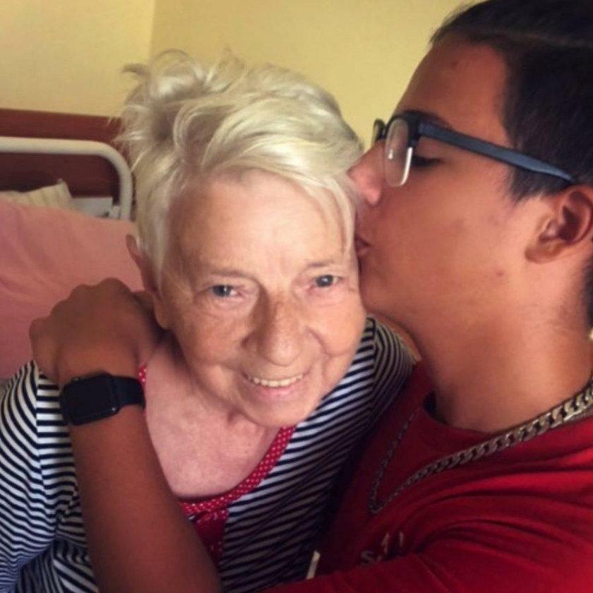 Grażyna Jasik z wnuczkiem