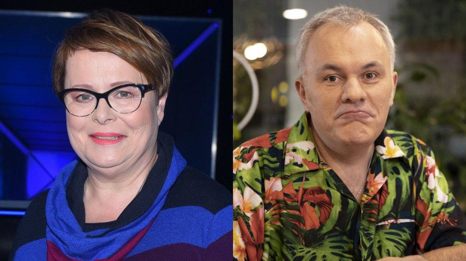 Ilona Łepkowska (MW Media, fot. ANDRAS SZILAGYI) i Robert Mazurek