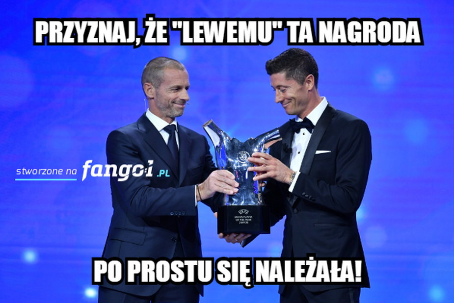 Robert Lewandowski piłkarzem sezonu UEFA - memy