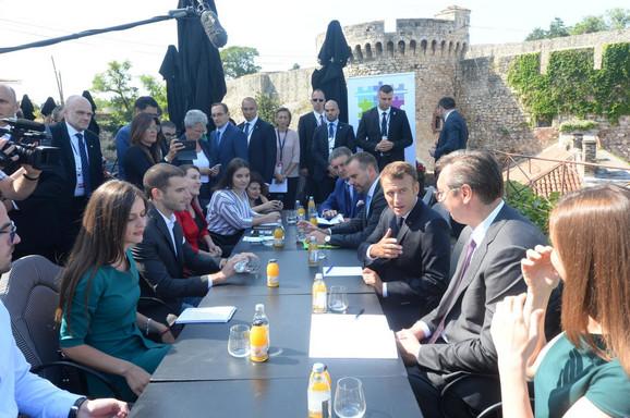Makron i Vučić na Kalemegdanu, drugi dan posete