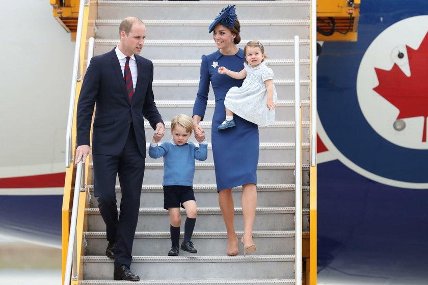 Brytyjska rodzina książęca w podróży do Kanady