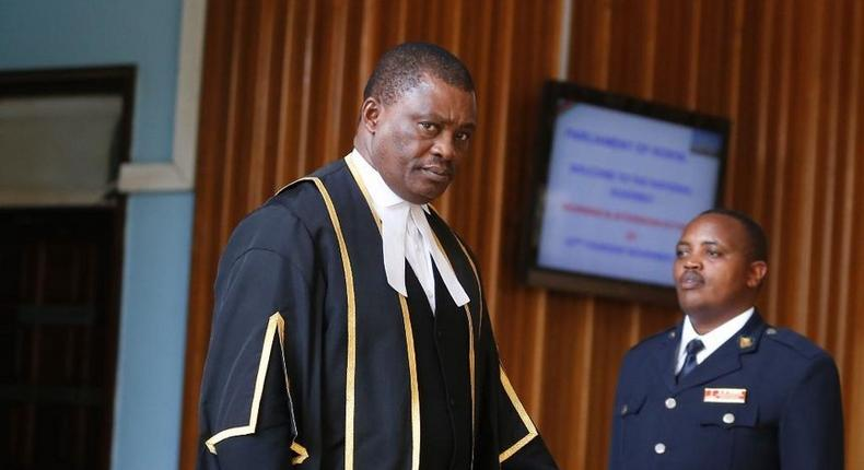 File image of National Assembly Speaker of the National Assembly Justin Muturi