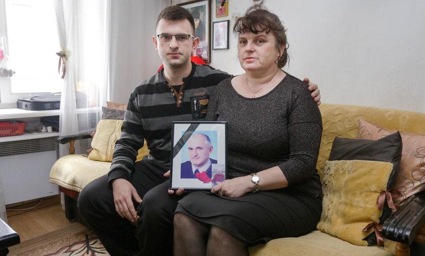 Mariola Ługowska z synem Tomaszem