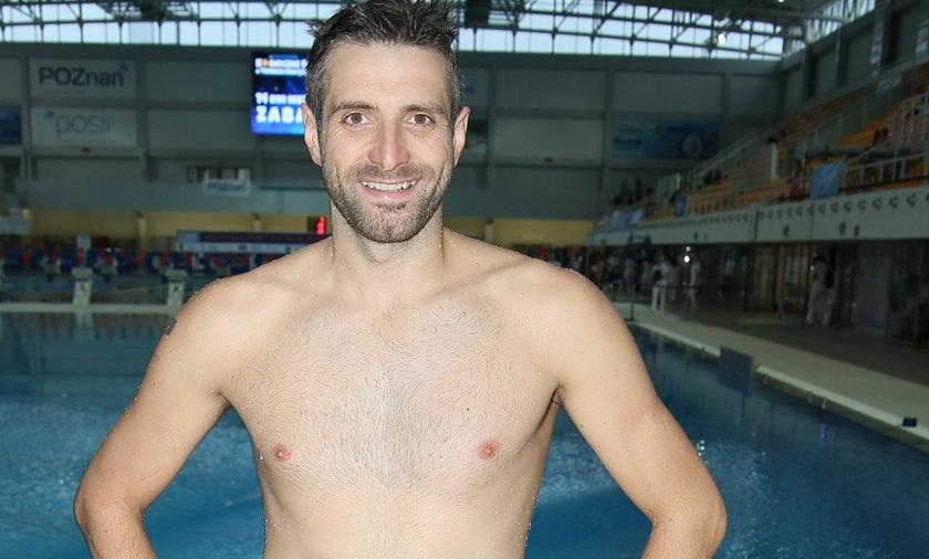 Maciej Dowbor w Celebrity Splash