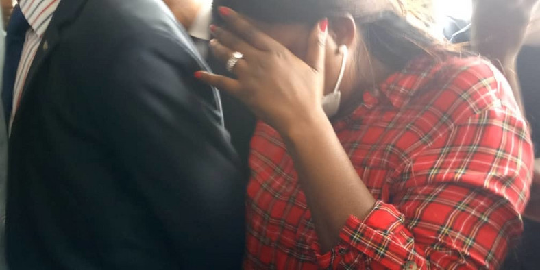Funke Akindele in court with husband, JJC Skillz [Lawanson]