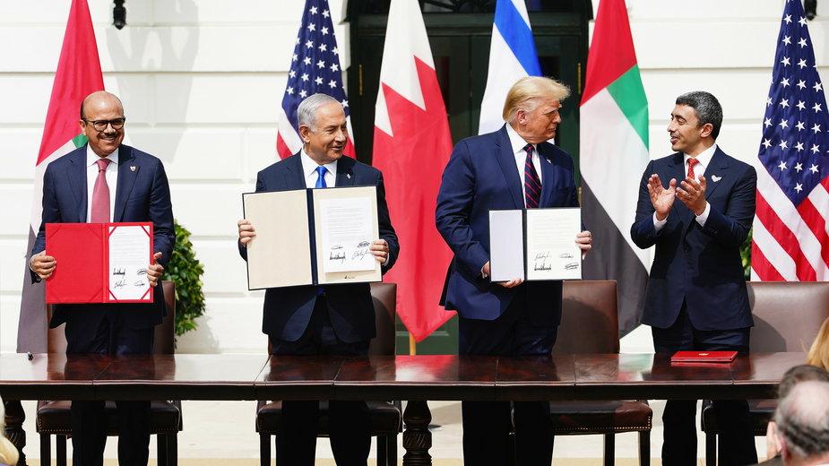 Podpisanie w Białym Domu porozumienia pokojowego Izraela z Bahrajnem i Zjednoczonymi Emiratami Arabskimi