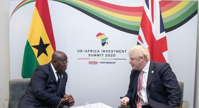 President Akufo-Addo and Prime Minister Boris Johnson