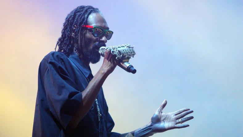 Snoop Dogg podczas koncertu w Rzymie