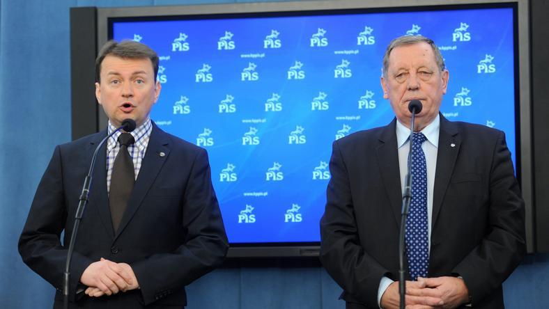 Mariusz Błaszczak i Jan Szyszko