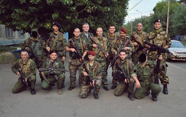 Srpski dobrovoljci na proruskoj strani ukrajinskog fronta