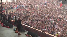 Przemowa Owsiaka na Przystanku Woodstock i wspólnie odśpiewany hymn Polski