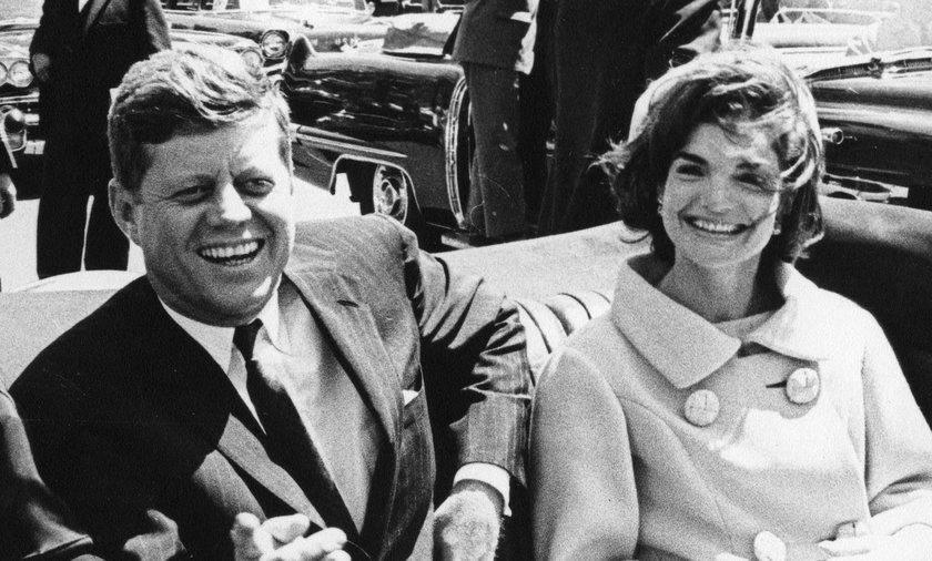 John Kennedy i jego żona Jacqueline Kennedy