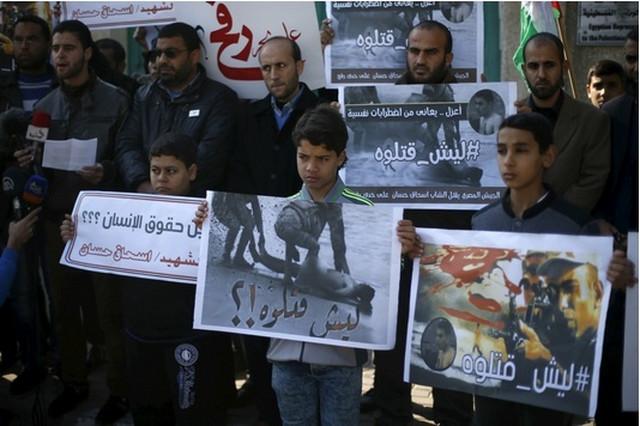 gaza protest palestinac hamas ubistvo egipat