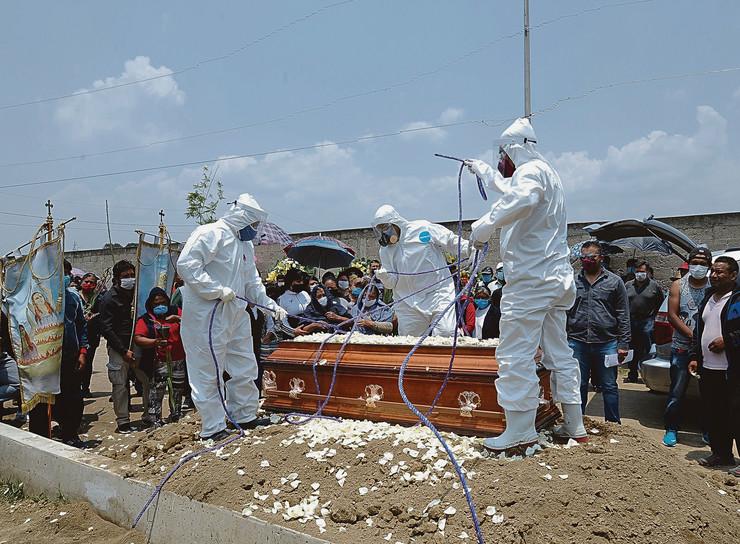 Korona sahrana preminuli