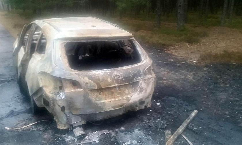 Podpalenie samochodu w Juracie