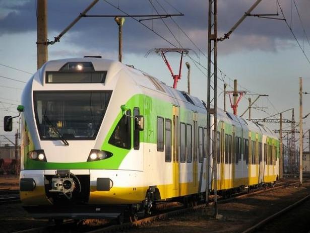 Nowoczesny pociąg Flirt. Fot. Koleje Mazowieckie