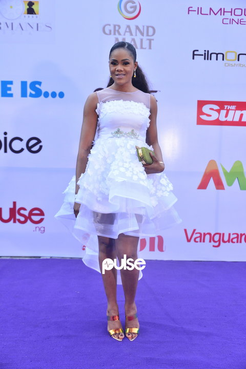 Busola Dakolo all glammed up at 'She Is' movie premiere [PULSE]