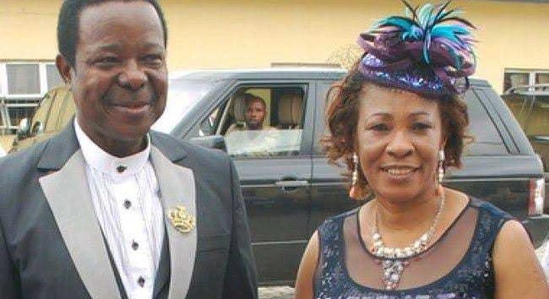King Sunny Ade and his late wife, Risikat Ajoke Adegeye.