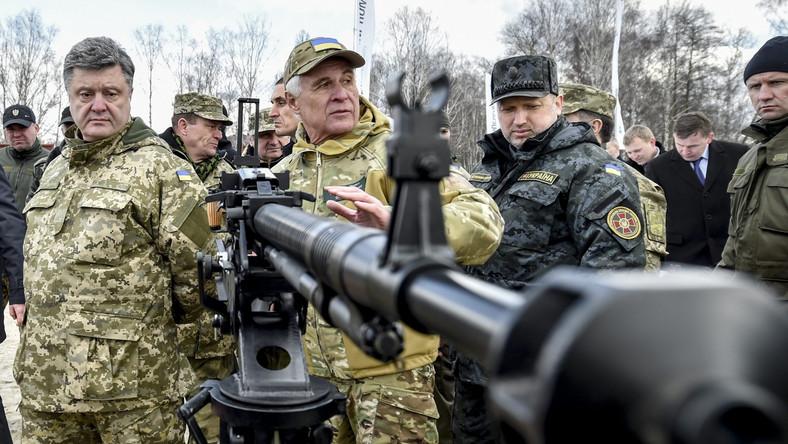 Prezydent Petro Poroszenko i Ołeksandr Turczynow, sekretarz Rady Bezpieczeństwa Narodowego i Obrony Ukrainy