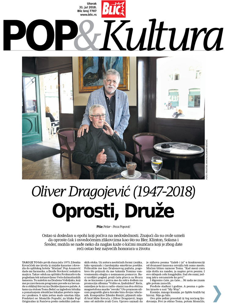 Pop Kultura Cover Peca Oliver