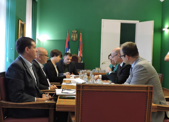 Ministar kulture i informisanja Vladan Vukosavljević i ambasador Francuske u Srbiji Frederik Mondoloni