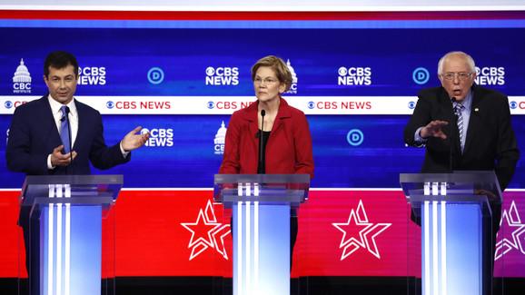 Pit Butidžed, Elizabet Voren i Berni Sanders