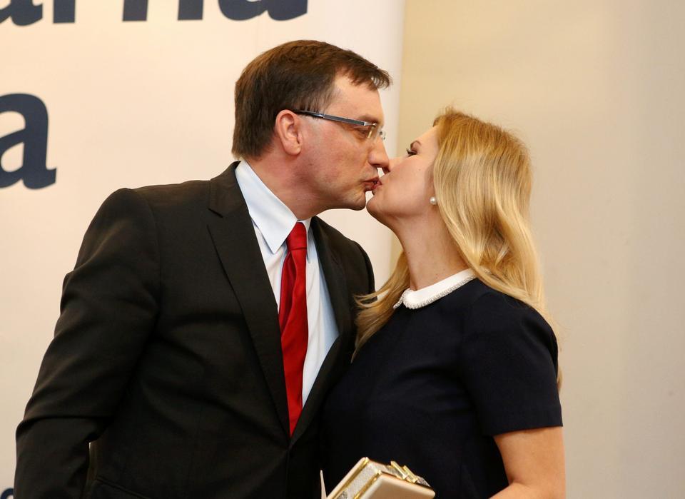 Minister sprawiedliwości Zbigniew Ziobro z małżonką Patrycją Kotecką