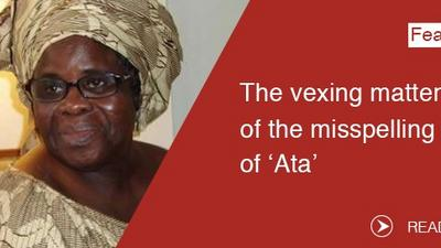 The vexing matter of the misspelling of 'Ata'