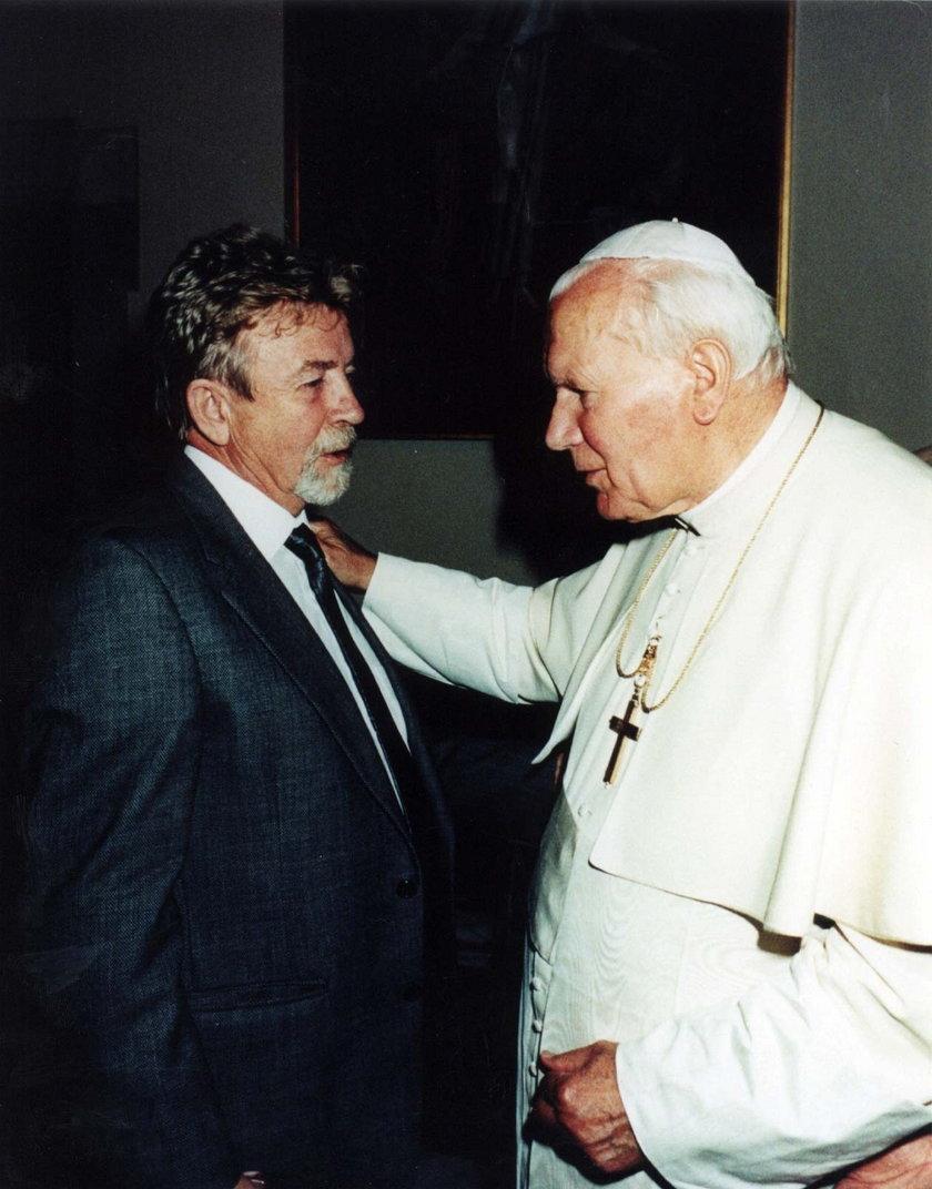Kukliński z papieżem