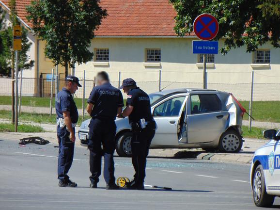Policija utvrđuje uzrok saobraćajne nesreće u Nišu