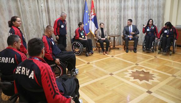 Vanja Udovičić i Ana Brnabić ugostili paraolimpijce
