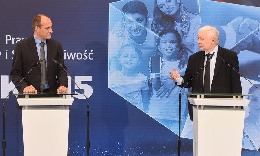 Paweł Kukiz i Jarosław Kaczyński.
