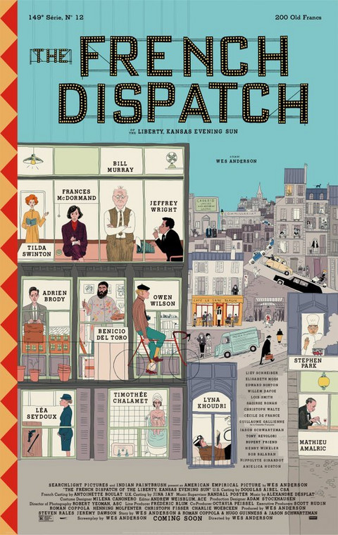 """The French Dispatch"" - plakat"