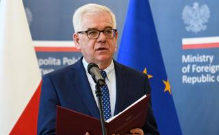 Czaputowicz: Jesteśmy otwarci na współpracę z Trybunałem Sprawiedliwości w sprawie Sądu Najwyższego