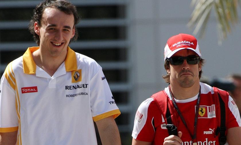 Robert Kubica, Fernando Alonso